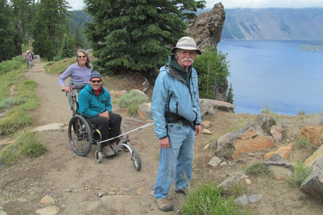 Crater Lake National Park was the setting for the original prototype chair in 2015. - COURTESY ADVENCHAIR