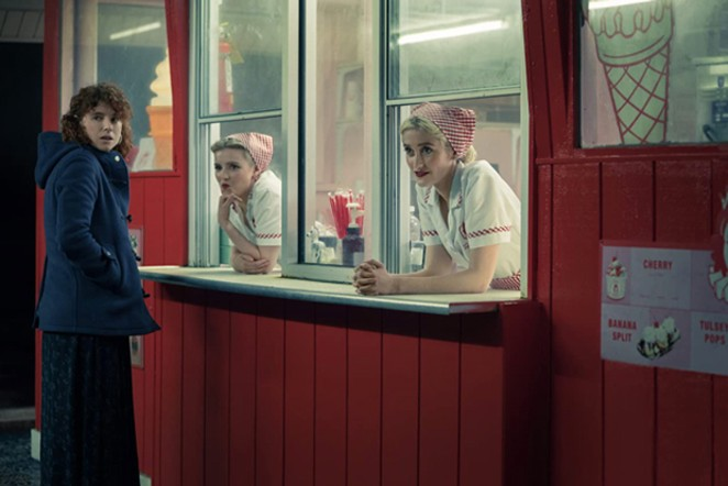 You do not want to stop here for a milkshake. Trust the look on her face. - PHOTO COURTESY OF NETFLIX