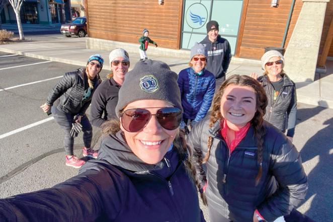 Forced to close most of its operation and offer virtual classes, Orangetheory in the Old Mill is adapting by offering a running club for members—and non-members—three days a week. - COURTESY ORANGE THEORY