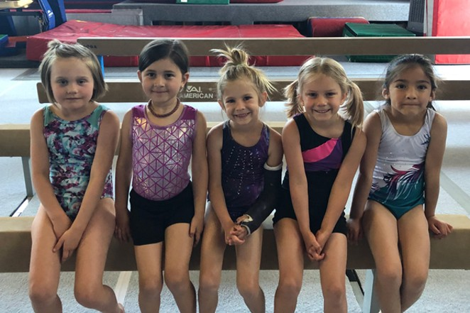 All smiles inside the Central Oregon Gymnastics Academy. - COURTESY OF SHARMAN WATT