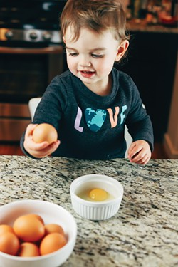 A world of wonder awaits the child in the kitchen. - NANCY PATTERSON
