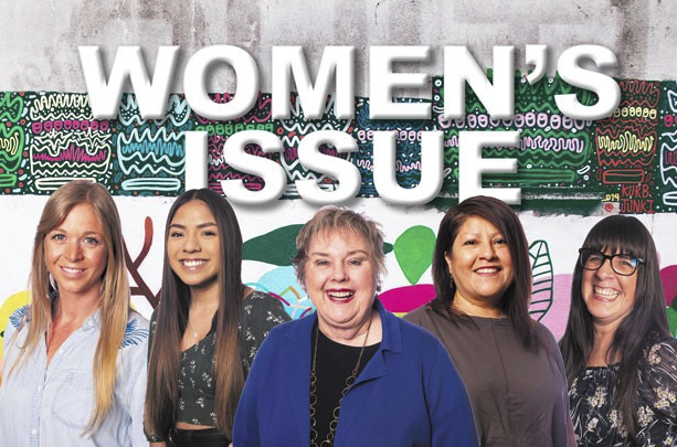 Winners from our 2020 Women's Issue, Woman of the Year Jesse Durham, Young Hero Angie Acevedo, Lifetime Achievement winner Lawnae Hunter, Community Hero Ruth Jones and Advancing Women winner Karina Smith. - PHOTOS BY MEGAN BAKER
