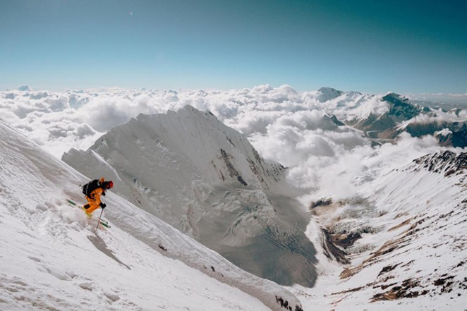 """An image from the film """"Lhotse,"""" about skiing down the mountain of the same name, available for viewing online starting Feb. 26. - COURTESY MOUNTAINFILM"""