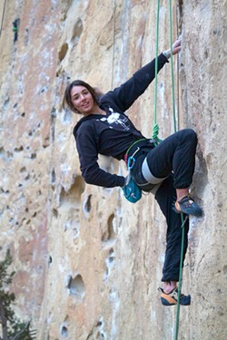 Mira Capicchioni has been climbing since she was 8. - SUBMITTED
