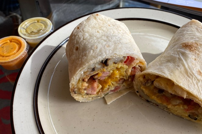 There's something about the hash browns in Burrito Sunrise's breakfast burritos that is utterly delightful. - NICOLE VULCAN