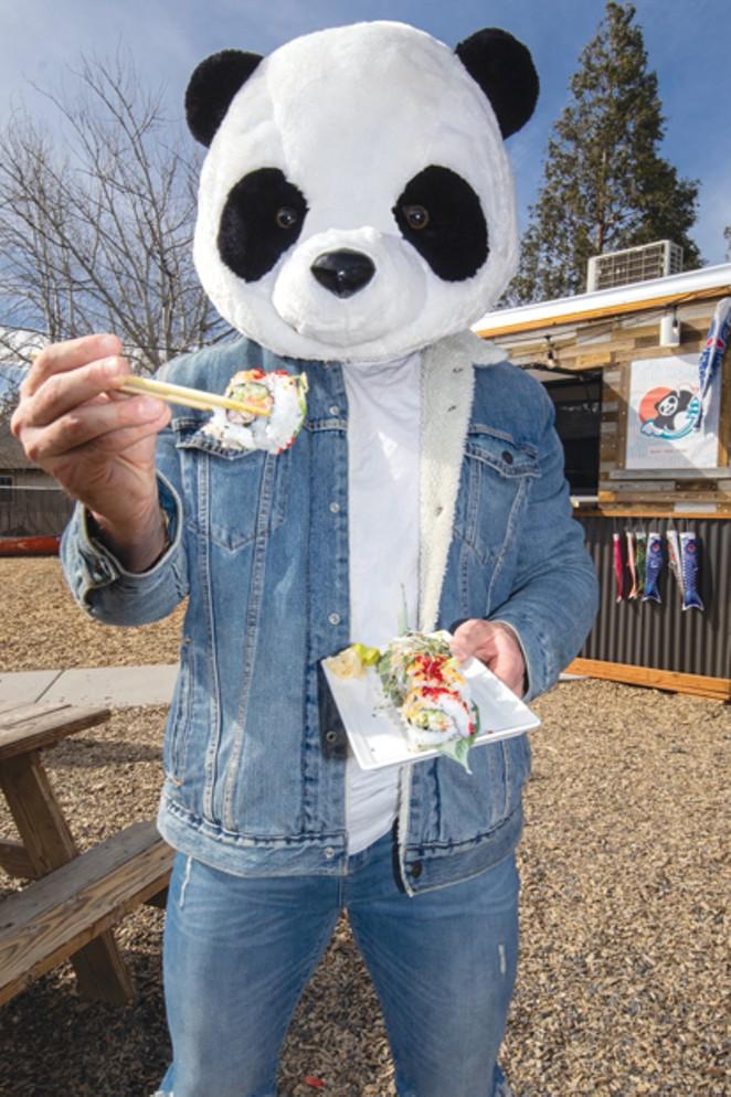 Northfresh Sushi Owner Jeff Burneski With The True Love Maki. - DARRIS HURST