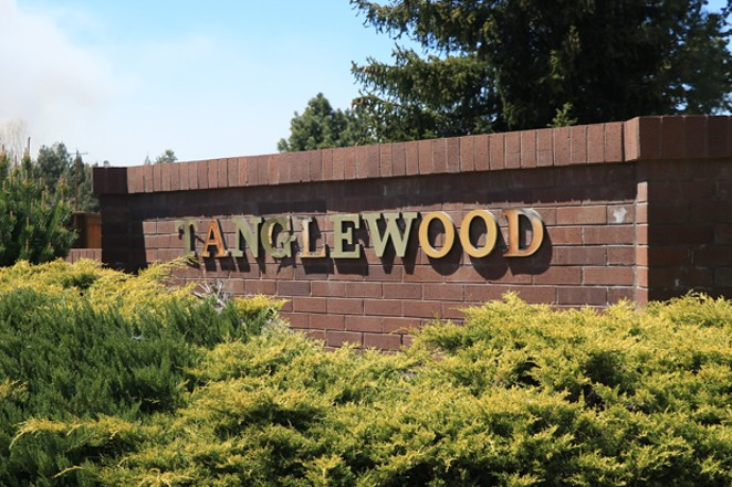 A sign marks the entrance to the Tanglewood neighborhood, where neighbors were able to block the issuing of a Short Term Vacation Rental Permit. - JACK HARVEL