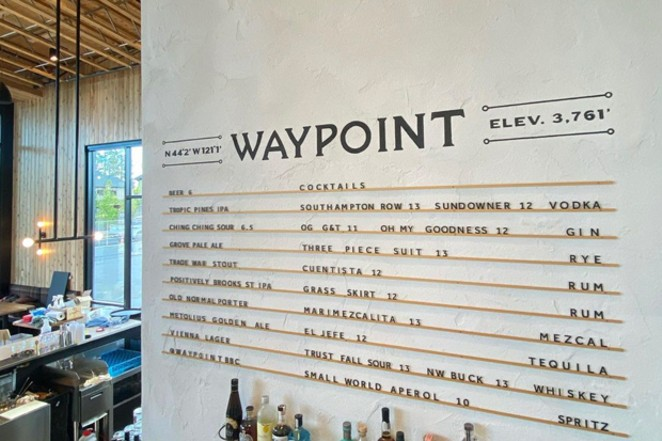 Diners at The Grove will require something to wash down all the food options; start with this cocktailmenu at the Waypoint bar. - WAYPOINTBBC / INSTAGRAM