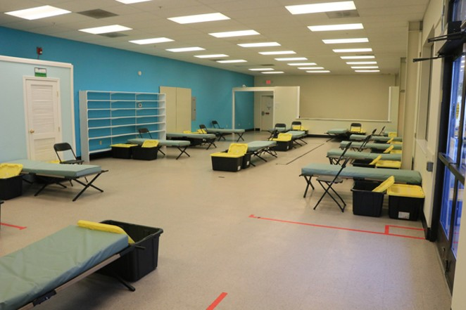 The side room at the Second Street facility is smaller and often goes to houseless families. - JACK HARVEL