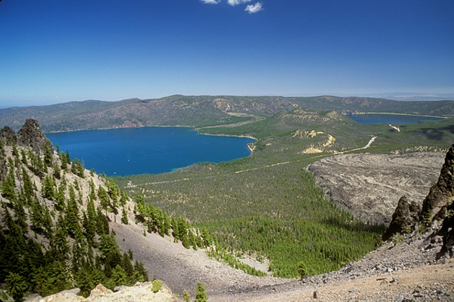 Paulina and East Lakes in the Newberry Crater National Volcanic Monument. - COURTESY U.S. FOREST SERVICE / FLICKR