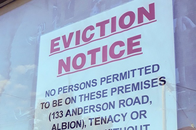 Eviction notices will be finding tenants once again after more than a year since the Oregon legislature placed a moratorium on evictions. The moratorium was put in place to avoid an eviction crisis after many lost their income during the pandemic, and to avoid spreading the virus. - COURTESY DAVID JACKMANSON