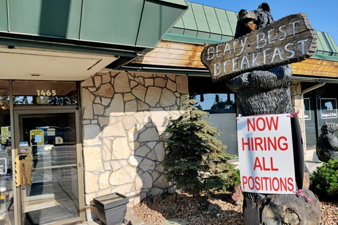 The Black Bear Diner on Third Street invites people to apply for all positions. - JACK HARVEL