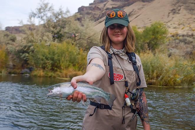 The fly-fishing is fine in the Owyhee. - TARYN SACCHITELLA