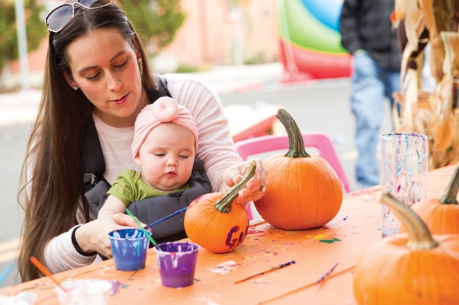 Creativity abounds! Pumpkin painting at the Bend Fall Festival. - BRIAN BECKER