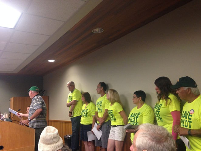 Bill Smith shares concerns about the planned apartment complex at the base of Pilot Butte during the Aug. 5 City Council meeting. - ERIN ROOK