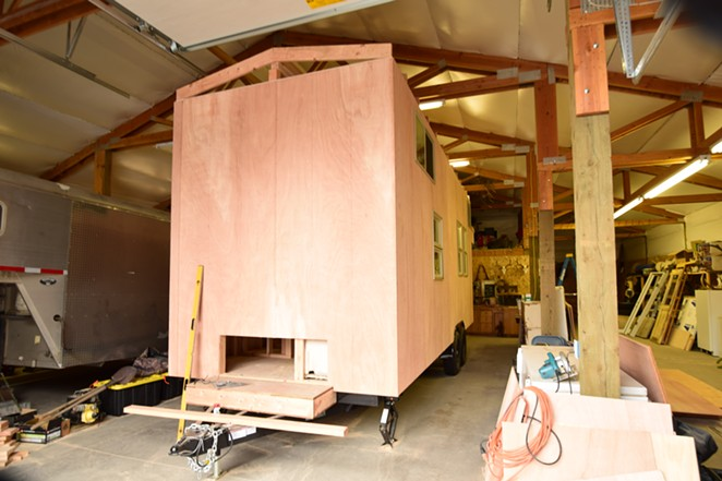 Tiny home under construction in Central Oregon - SOURCE WEEKLY