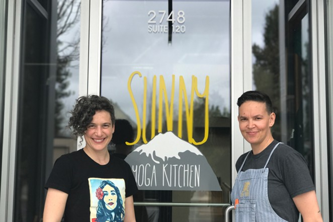Amy and Courtney Wright own Sunny Yoga Kitchen - where they serve up lunch and yoga classes. - LISA SIPE