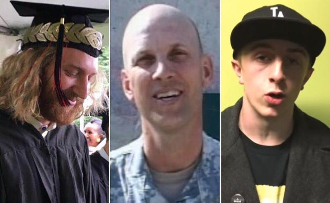 Taliesin MyrddinNamkai-Meche and Ricky John Best both passed away to their injuries while Micah Fletcher is recovering at a Portland hospital. - PHOTO COURTESY OF FACEBOOK