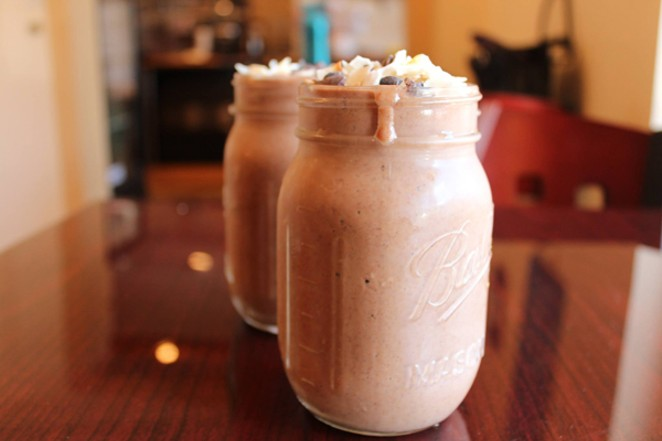 Mouthwatering smoothies on offer at Pure Joy Kitchen in Bend, Oregon. - LISA SIPE