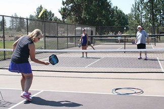 CHRISTIE GESTVANG SHOWS ANNE PICK AND RICHARD SITTS THE INS AND OUTS OF PICKLEBALL