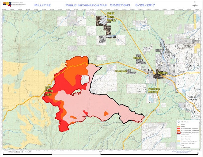 Oregon Wildfire Map 2017 Traveler Alert: Fire Closes Highway 20 | Bent