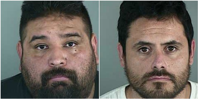 Mauricio Lima and Isaac Dominguez pictured above, are alleged by the FBI to be ring leaders of a major drug ring in Central Oregon. - LANE COUNTY JAIL