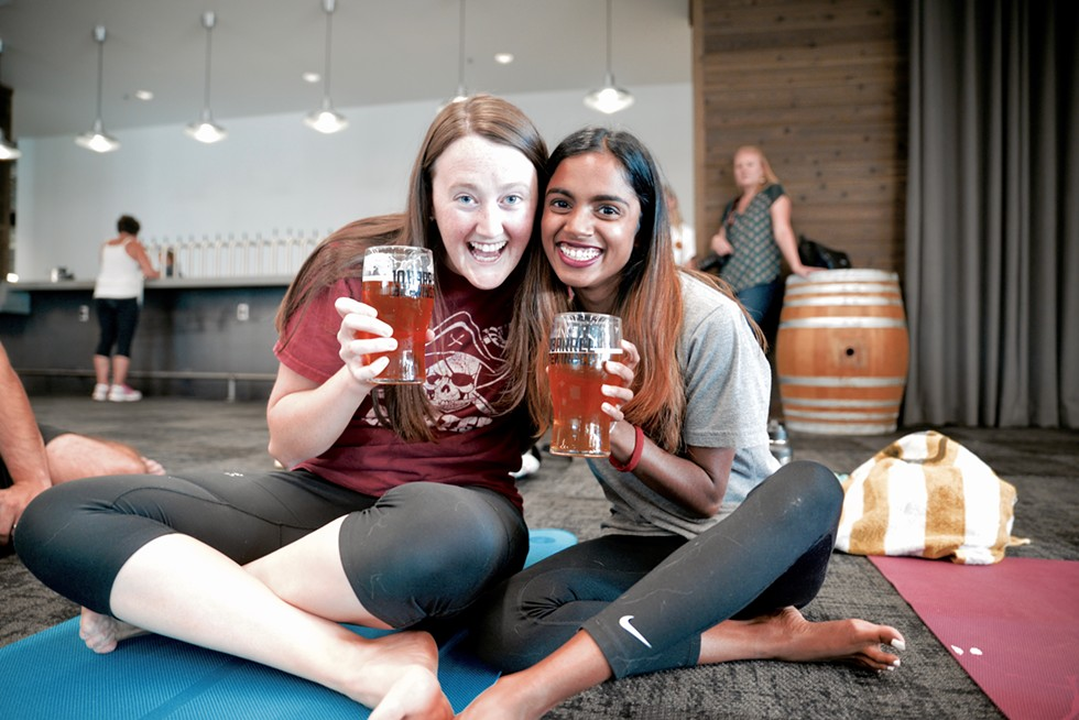 """I do yoga, but I wanted to relax and unwind. Plus I love beer."" - MAGDALENA BOKOWA"