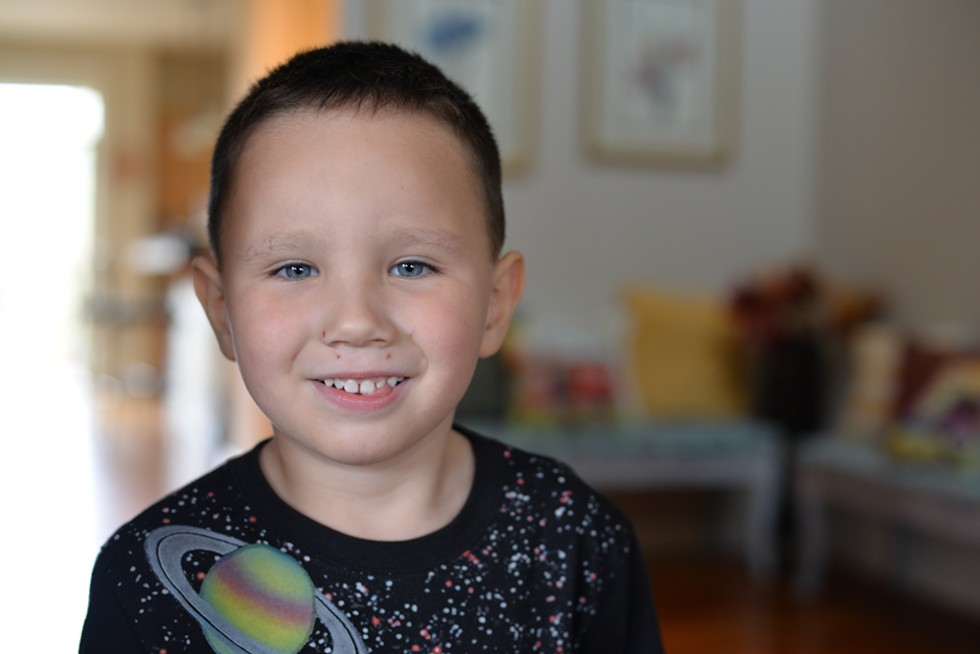 """This is Ariana's four-year old son. As a Pfeifer program graduate she recently moved from her two two-bedroom apartment to become a housing manager. """"It'll allow me to save for a downpayment on a home... something I never thought I'd ever dream I'd be able to do."""" - MAGDALENA BOKOWA"""