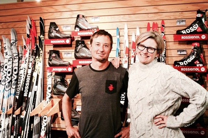 Owners, Mike Schindler and Susan Conner at their shop, Sunnyside Sports - WYATT GAINES