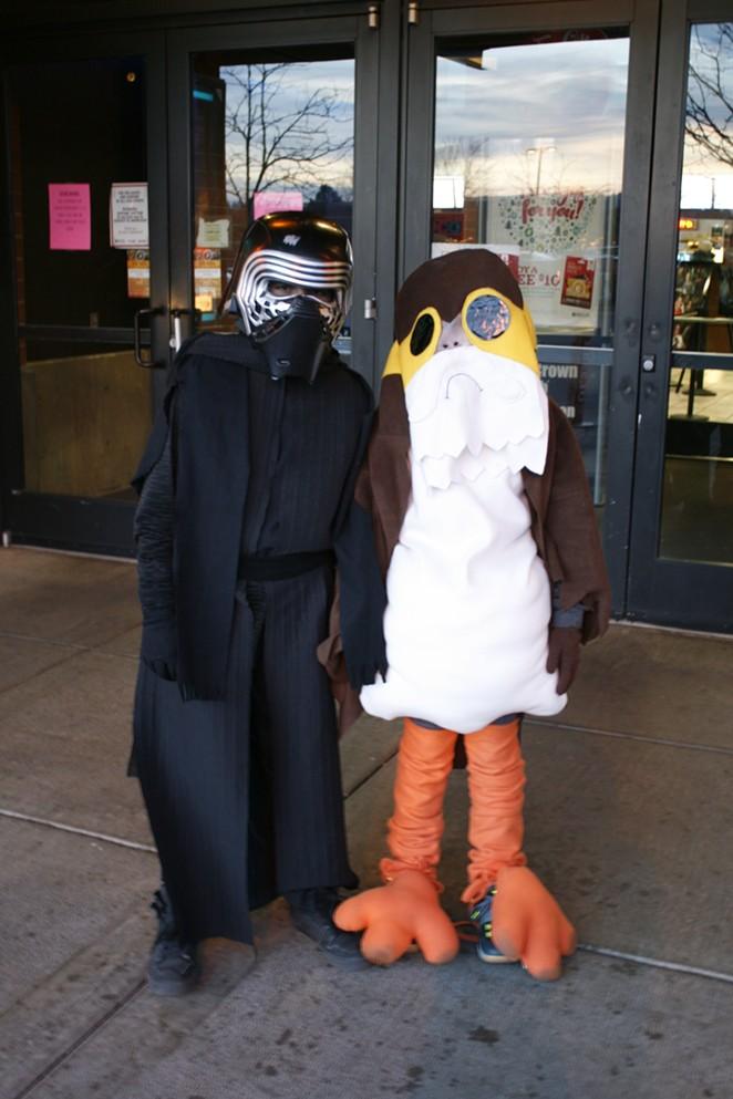 Source interns were at Regal Cinemas Thursday to catch some mega Star Wars fans doin' their cosplay thing. - ELLA CUTTER/NATALIE BURDSALL