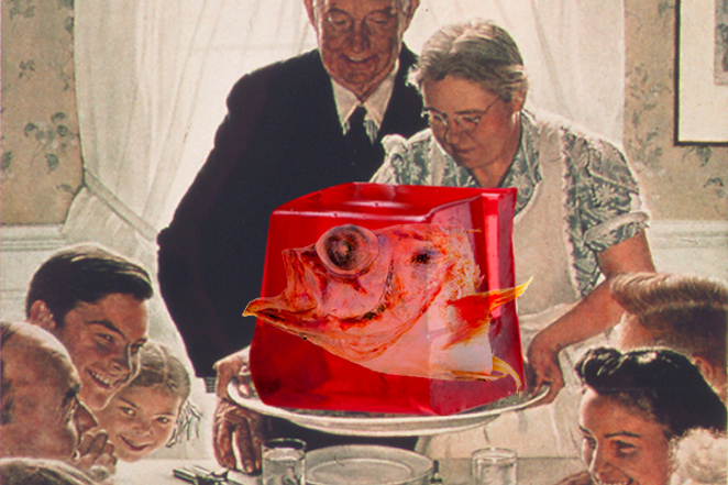 Mmmmm.. the infamous fish in jello. A Polish Christmas tradition. - WYATT GAINES