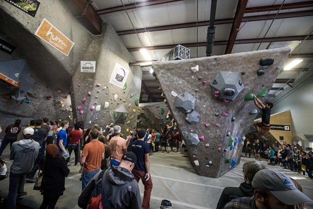 Organizers strive to make the Bend Boulder Bash hard for competitors and entertaining for spectators. - WILL BURKS