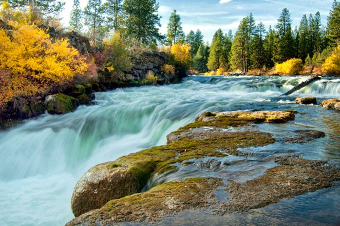 Surface water, such as this flowing over Dillon Falls, is just one aspect of an impending river study. - U.S. FOREST SERVICE / FLICKR