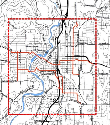 The proposed areas for Bend commuter friendly Greenways. - CITY OF BEND