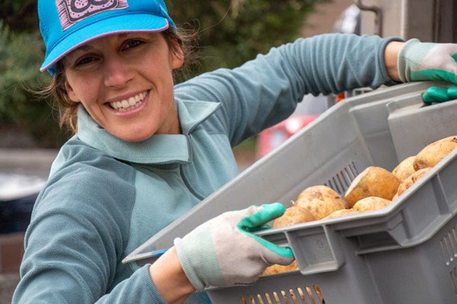 Your local, friendly food provider delivers a big smile to go with them taters. - KEELY DAMARA
