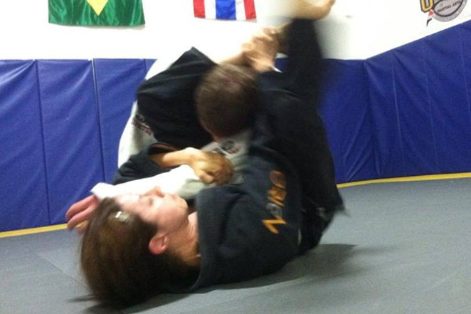 Almine Barton practicing Brazilian Jiu-Jutsu. - SUBMITTED