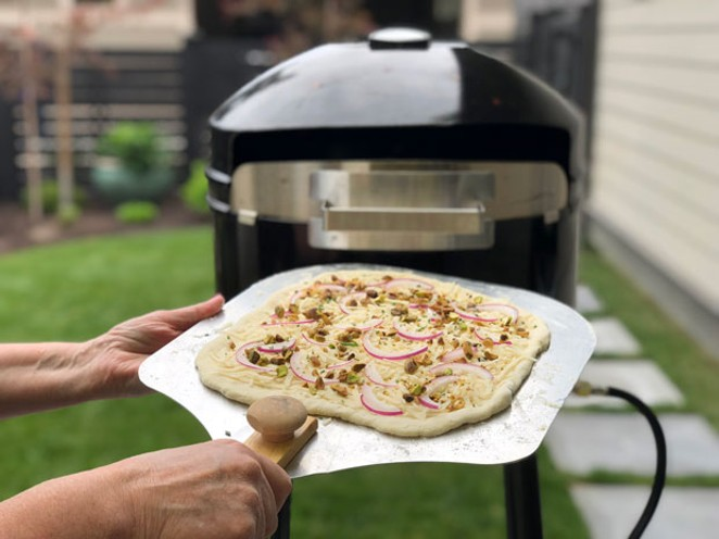 When making pizza at home, use a pizza peel so your pizza slides into the oven. The long curved blade of a pizza rocker makes it way quicker to cut slices of pizza than rolling back and forth to cut through the crust with a pizza wheel. - LISA SIPE
