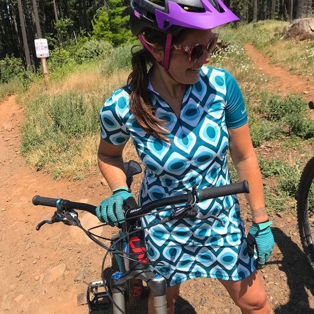 @ifshedrawsadoor beta tests new mountain bike dresses! Get pumped! Tag @sourceweekly and show up here! - SUBMITTED
