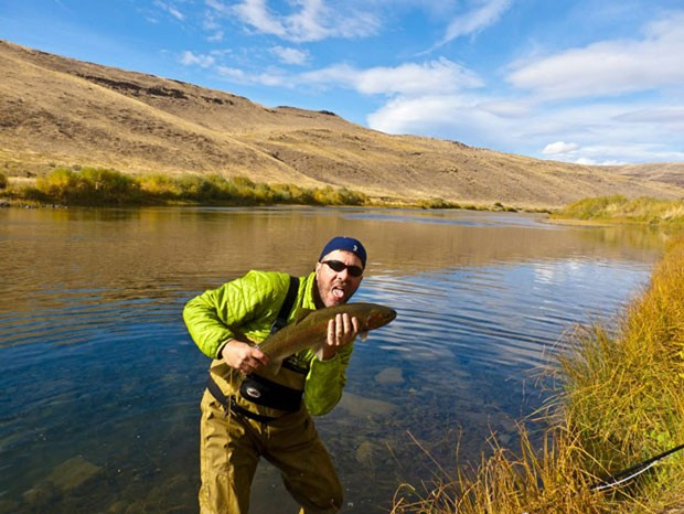 No, the author did not eat this steelhead raw; native fish such as this one require catch and release. - HANS VOGNILD