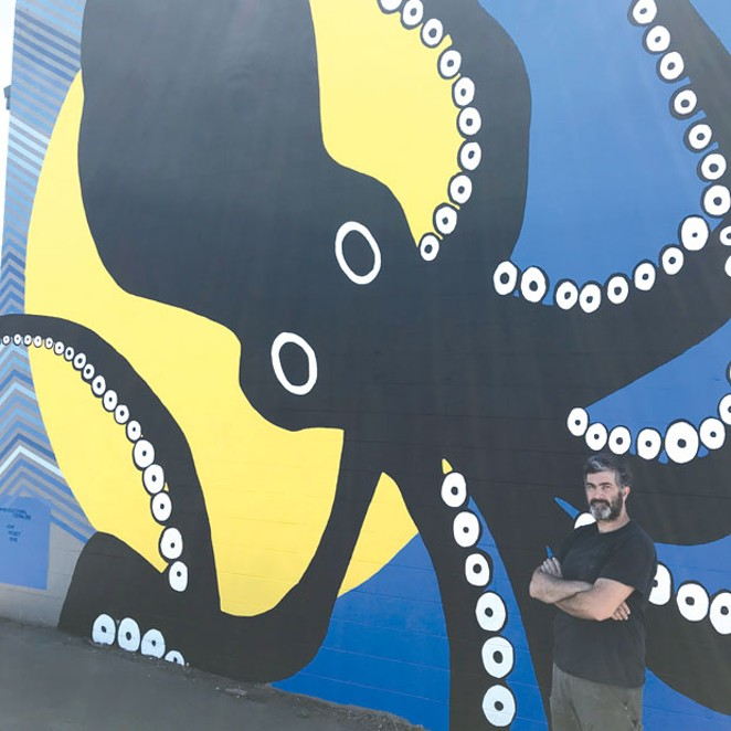 Gregory Amanti's new mural is the newest public art installation in the High Desert Mural Festival. - DOUGLAS ROBERTSON