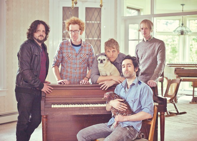 Portland's country/folk/rock outfit Blitzen Trapper performs at Munch and Music on 7/19. - TYLER KOHLHOFF