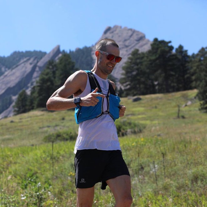 Spencer Nuwell running the Rockies in 2010. - SUBMITTED