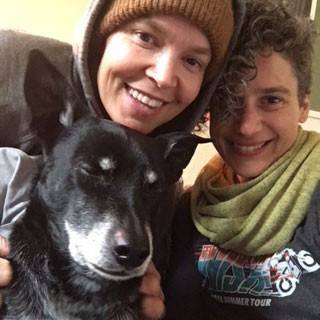Amy and Courtney Wright and Moki. - SUBMITTED