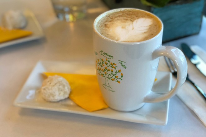 Each coffee drink is served with a delicate amaretto cookie. Dunking is optional. - LISA SIPE