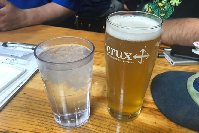 Crux's new brut IPA offers dry bliss to drinkers. - SUBMITTED