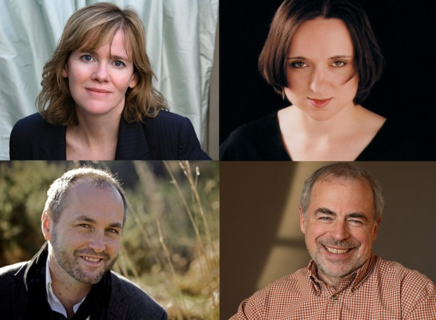 (Clockwise from top left) Maria Semple, Sarah Vowell, Colum McCann and Richard Russo fill out 2018/19 Author! Author! season line-up. - LETA WARNER, BENNET MILLER, BRENDAN BOURKE, ELENA SEIBERT