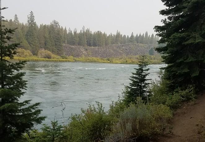 The Deschutes River below Dillon Falls. - DESCHUTES COUNTY SHERIFF'S OFFICE