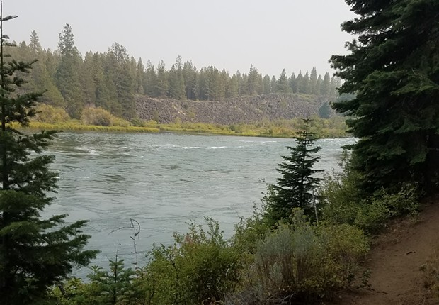The Deschutes River below Dillon Falls. - DESCHUTES COUNTY SHERIFF'S OFFICE