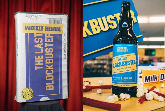 Nothing will ever smell as good as a VHS rental case—that smell of car-baked plastic and dreams. Plus, a new 10 Barrel Blockbuster beer! - PHOTO COURTESY OF ZEKE KAMM