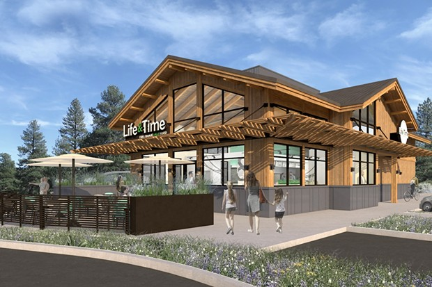 Renderings of the future Life & Time restaurant. - SUBMITTED